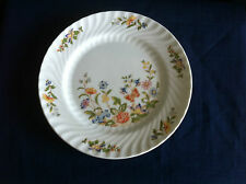 "Aynsley Cottage Garden fluted 8"" dessert plate (-Marked A & scratches)"