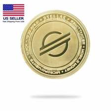 Cryptochips Stellar (XLM) Physical Crypto Collectable Coin Gold Color