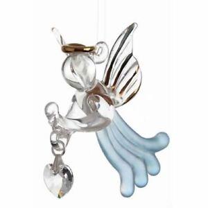 Loving Angel with Swarovski Crystal in Gift Box - Aquamarine