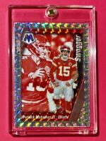Patrick Mahomes SILVER MOSAIC PRIZM REFRACTOR SWAGGER SPECIAL INSERT - Mint!