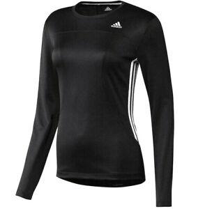 Adidas Rsp Children Running Shirt Long Sleeve Sports Shirt Girl Black/White