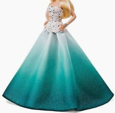 2016 BARBIE HOLIDAY DOLL EVENING GOWN MODEL MUSE COLLECTOR AQUA OMBRE DRESS ONLY