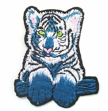 Tiger Cub Iron On Patch- Cat Animal Baby Safari Jungle Badge Applique Crafts
