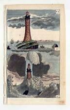 Eddystone-Lighthouse-Leuchtturm-Marine-Seefahrt - Kupferstich 1800 G. T. Wilhelm