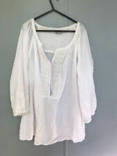 Peasant Cotton Blend 3/4 Sleeve Tops & Blouses for Women