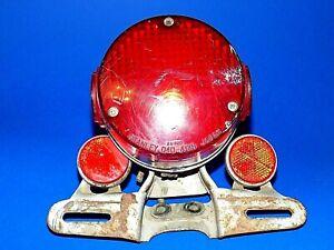 Yamaha Enduro Tail Brake Light 1974-76 Stanley 040-4918 & two 6-1920 Reflectors