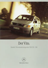 Prospekt Mercedes Vito Kombi Personentransporter 108 CDI-114 1/00 PKWs 2000 Auto