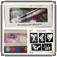 Christmas Glitter TATTOO KIT GIRLS DOLPHINS 25  Gift Boxed