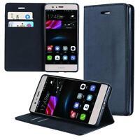 Custodia per Huawei P9 Lite Cover Case Portafoglio Wallet Etui Nero