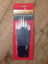 12 Artists Watercolour Paint Brushes. New