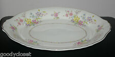 """SYRACUSE CHINA FEDERAL SHAPE BRIARCLIFF 13 7/8""""L PLATTER Ex Cond GOLD TRIM"""