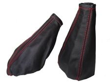 Gear & Handbrake Gaiter For Fiat Punto 1993-99 Leather Red Stitching
