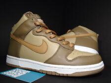 2003 Nike Dunk High HAY MAPLE BROWN TAUPE WHEAT WHITE EUROPE EURO 304717-222 9