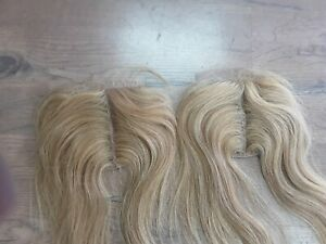 10+10 Brazilian Virgin Human Hair Straight SILK Closure BLONDE M27/613 PIANO 12A
