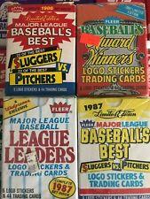 (4) Different 1986 & 1987 Fleer Baseball Specialty Sets