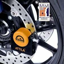 Squire Attila Diamond Sold Secure Motorcycle Motorbike Disc Lock - Long Pin
