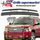 For 2007-2014 Chevy Tahoesuburbanavalanche Chrome Billet Grille Upper Lower Al