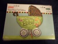 Fun Novelty Foil Balloons Welcome Baby Green Stroller XL 28x31 ~Free Gifts Party