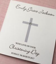 Personalised Christening Card