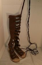 NEW JEFFREY CAMPBELL FREE PEOPLE VALENCIA BROWN GLADIATOR SANDALS WOMEN'S SIZE 6