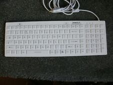 Sterile Flat Antibacterial Medical keyboard (white) Backlit USB P/N SF17-02-BL