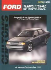 Haynes Repair Manuals: Ford Tempo and Mercury Topaz, 1984-94 by Chilton Automoti