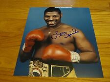 Boxer LEON SPINKS Heavyweight Champion signed 8x10 Photo COA