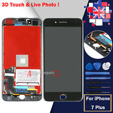 "Screen Digitizer Black For iPhone 7 Plus 5.5"" LCD Touch Display & Frame Lens UK"