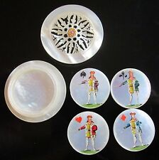 Antique, French, Mother of Pearl, Whist Box & Marker Set, MOP Game Card