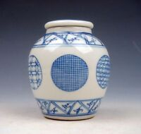 Blue&White QingHua Various Pattern Hand Painted Water Pot Jar w/ Cover #08131703