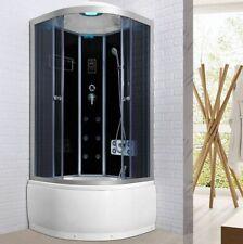 Cabina doccia con vasca box Idromassaggio 80x80 bluetooth 6 getti cromoterapia 0