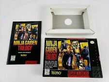 Ninja Gaiden Trilogy Super Nintendo SNES Authentic Box and Manual Only ! no game