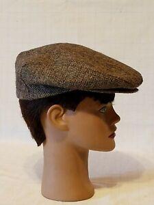 1970\u2019s Brown Corduroy Newsboy Cap