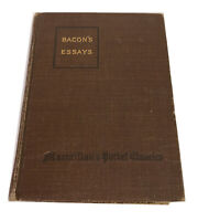 Bacon's Essays HC 1916 by Francis Bacon edited by George Herbert  Clarke