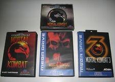 MORTAL KOMBAT LOT MK 1 + MK II UNLIMITED + MK 3 Sega Megadrive + MK Mega CD +...