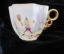 "Antique Palmer Cox"" Brownies"" TENNIS  CAC (Early Lenox)  Belleek Demitasse Cup"