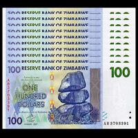 P-5 6 7 8 9 11 12 5 10 20 50 100 500 1000 Dollars Zimbabwe SET 7 PCS UNC