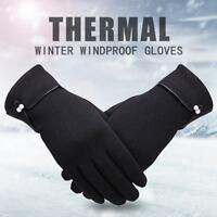 US Women Winter Gloves Warm Rub Screen Fleece Lined Driving Gloves for Ladies
