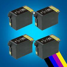 4 Big Black Ink Cartridges for Epson WorkForce WF-3620DWF WF-3640DTWF WF-7110DTW