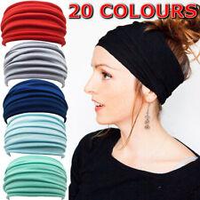 Running Soft Wide Hairband Yoga Elastic Stretch Headband Turban Head Wrap