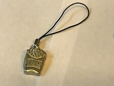 pewter Mobile Phone charm Fries Tg165 Fine English