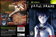 Fatal Frame CUSTOM XBOX CASE (NO GAME)