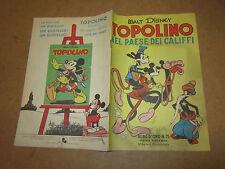 WALT DISNEY ALBO D'ORO N°15 TOPOLINO NEL PAESE DEI CALIFFI 28-02-1950 1°RISTAMPA