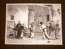 Teatro in Italia nel 1875 Scena del Moroso de la Nona Commedia Giacinto Gallina