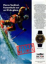 Publicité Advertising 1999  Montre  SECTOR  SPORT WATCHES