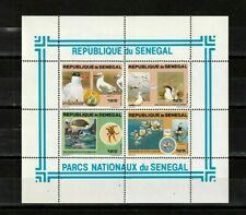 Senegal Souvenir Sheet #545,  MNHOG, 1981, Birds, Marine Life,  SCV $22