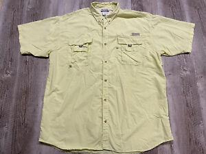 Columbia PFG Omni Shade Short Sleeve Button Up Vented Shirt Men's Size 2XT