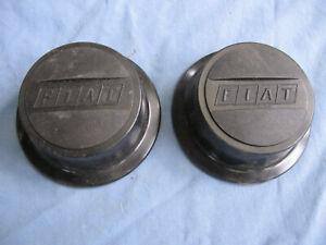 FIAT WHEEL CENTER CAP PAIR TWO 2 PLASTIC 124 67 68 69 70 X1/9 128 SPIDER