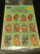 Vintage The Sticker Store Munchin' Monkeys Coconut Scented Scratch-n-Sniff
