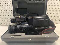 Vintage NEC Camcorder VHS Movie Recorder w/Hard Case V50U & V-M50U COOL COLLECT